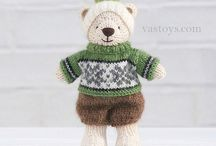 Knitting and sewing animals and dolls