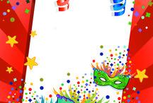 Rámy a pozadia - karneval