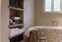 gestucte badkamer