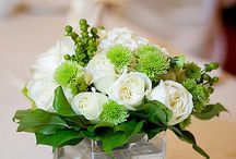 White green flower arrangement