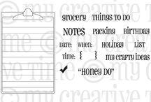 Honey Do List / Inspiration for this stamp set!