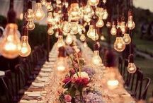 Lighting ideas / Lighting ideas with recycled and innovative materials: wine bottles, maison jars, concrete...