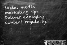 Social media marketing tips / Handy social media marketing tips from distance learning course provider, the College of Media and Publishing.