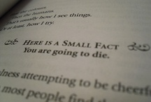 "lit; the book thief / ""Here is a small fact: you're going to die"" / Markus Zusak"