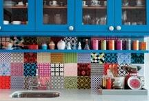 Køkken med farver