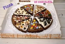 Pizza brownie de chocolate