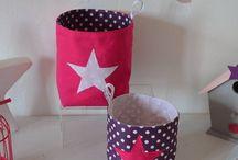 Chambre enfant bébé fille rose poudré violet fuchsia / décoration chambre bébé rose poudré violet fuchsia