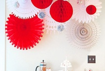 red n white decoration