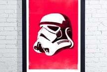 Star Wars Art. / Decorate your house with artwork from this Cult Classic Sci phi film