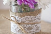 Jam Jars....Weddings / Jam jars, Kilner jars, pickling jars...these can all make great centre pieces and decorations for your wedding. Use with burlap, lace, pearls and twine or fill with fairy lights or candles with baby's breath.