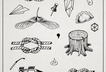 stick n poke / tattoos inspiraion