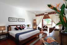 Ethnic bedrooms / Deluxe bedrooms with ethnic decors @ Riverside Boutique Resort