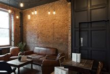 Lounge Dining exposed brick