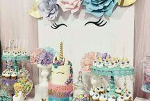 Unicorn/Rainbow 40th Birthday party