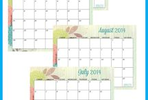 monthly calendar print outs / by Sylvia Anna