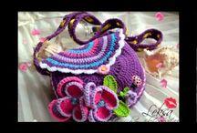 Bolsas de nena a crochet