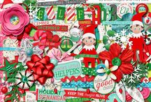 Happy Little Elf / Layouts, projects and images of the Happy Little Elf digital scrapbooking kit by Misty Cato and Brook Magee. / by Misty Cato