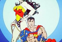Superman and wonderwoman