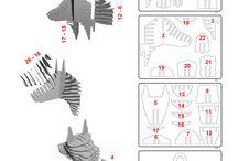 Plans objets bois, papier...Idées