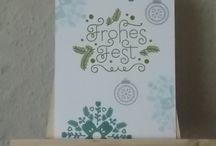 Weihnachtskarten / In liebevoller Handarbeit gefertigte Weihnachtskarten aus meinem Bastelkeller.