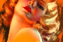 Pin Up Art / Glam, Gorgeous, Cherubic / by Jo Brothers