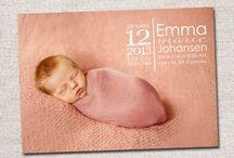 AJ | Birth Announcement Card