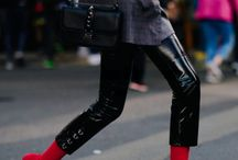 trending: red boots / This board is full of outfit inspiration and ideas to help you inject this trend into your wardrobe.