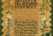 historyczny haft krzyżykowy