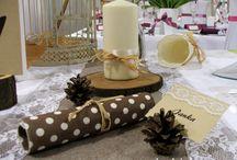 Prírodná svadobná výzdoba / Originálna svadobná výzdoba v tradičnom štýle