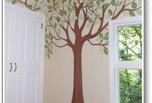 IDEAS ARBOLES / Ideas que se pueden realizar en paredes. Fotos encontradas en Pinterest