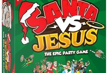 """Santa VS Jesus The epic party card game / Have you ever wondered, """"Who rules Christmas? Santa or Jesus?"""" Well, it's time to decide once and for all in SANTA VS JESUS - the hilariously EPIC Christmas party card game!  HOW DO YOU PLAY? In this funny card game, players get into two teams - Team Santa and Team Jesus - and fight it out through a variety of festive themed puzzles, riddles, jigsaws, building challenges and brain games to win Believers. The team with the most Believers at the end of the game are the winners!"""