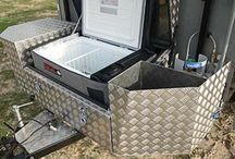 Camping moto trailer