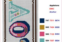 Cross-stitch charts & projects