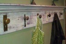 Door knob/vintage hook shelf