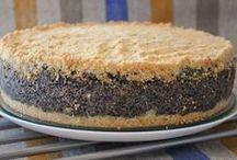 маковый  творожный  пирог