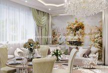 Дизайн интерьера квартиры в ЖК Дирижабль / Интерьер квартиры в ЖК «Дирижабль» выполнен в стиле ар-деко. Основные цвета использовавшиеся при оформлении белый и бежевый. Они наполняют комнаты светом и уютом. Ар-деко славиться своими элегантными линиями декора и симметричностью композиций. Зеркала, обилие цветов и люстры создают удивительную атмосферу в комнатах ЖК «Дирижабль».