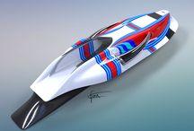 Boat design / Concept et inspiration d'un bateau design aux couleurs de martini racing team