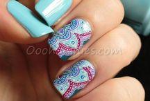 Reverse nail stamping