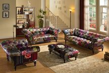 Colorful Patchwork Chesterfield Sofa by Lovesofas / The classic design tufted upholstered by best quality fabric. Comes in 3 seater, 2 seater, chair, a matching Wingback and a chaise Lounge.