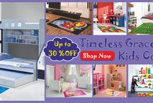 Kids Rugs / Kids need something Soft to Stand On, Something Strong to Play On and Something that will help cushion their noise. Rugs are the perfect answer ! Choose from the wide range of beautiful Rugs to make your Kids Happy and give them the best gift ever  with important features like non-slip backing and easy cleaning. There are rugs available in solid colors, patterns and with cute alphabets that will endear themselves to any kid and make their room a cozy and safe place.