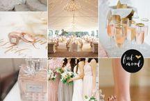 Wedding colors - Rose Blush Gold Romantic