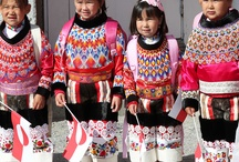 Greenland national costume / The Greenlandic national dress for women is a colourful wonder of hand crafted parts.