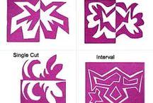 NOTAN / Positive and Negative Space cut paper art.