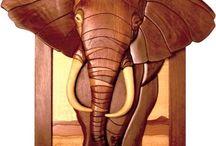 intarsja słon