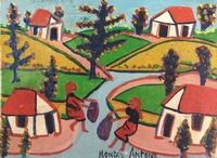 """Antoine, Montas (1926-'88) (5) / Montas Antoine (1926-1988) was a member of the """"First Generation """" of Haitian artists. He joined the Centre d'Art in 1951. His work has been exhibited widely in art museums. - See more at: http://www.naderhaitianart.com/antoinemontas.html#sthash.7JRvGj9t.dpuf"""