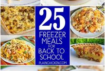 Freezer meals for back to school