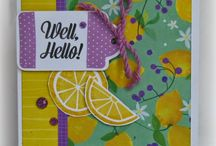 Taste of Summer - National Scrapbooking Month Paper Ideas / Layouts, cards and more using the Taste of Summer Paper pack and stamp set