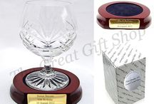 Glass with Presentation Stands / A Range of Glass with Trophy stands sold by The Great Gift Shop