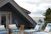 Beach house deck furniture