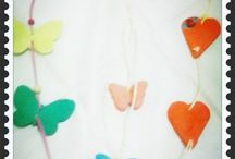 Handmade Creations / Κρεμαστά διακοσμητικά, δωράκια για παιδικό πάρτυ